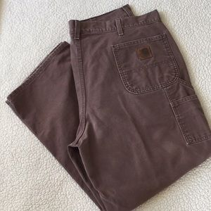Carhartt Brown carpenter work pants, sz 42 x 30